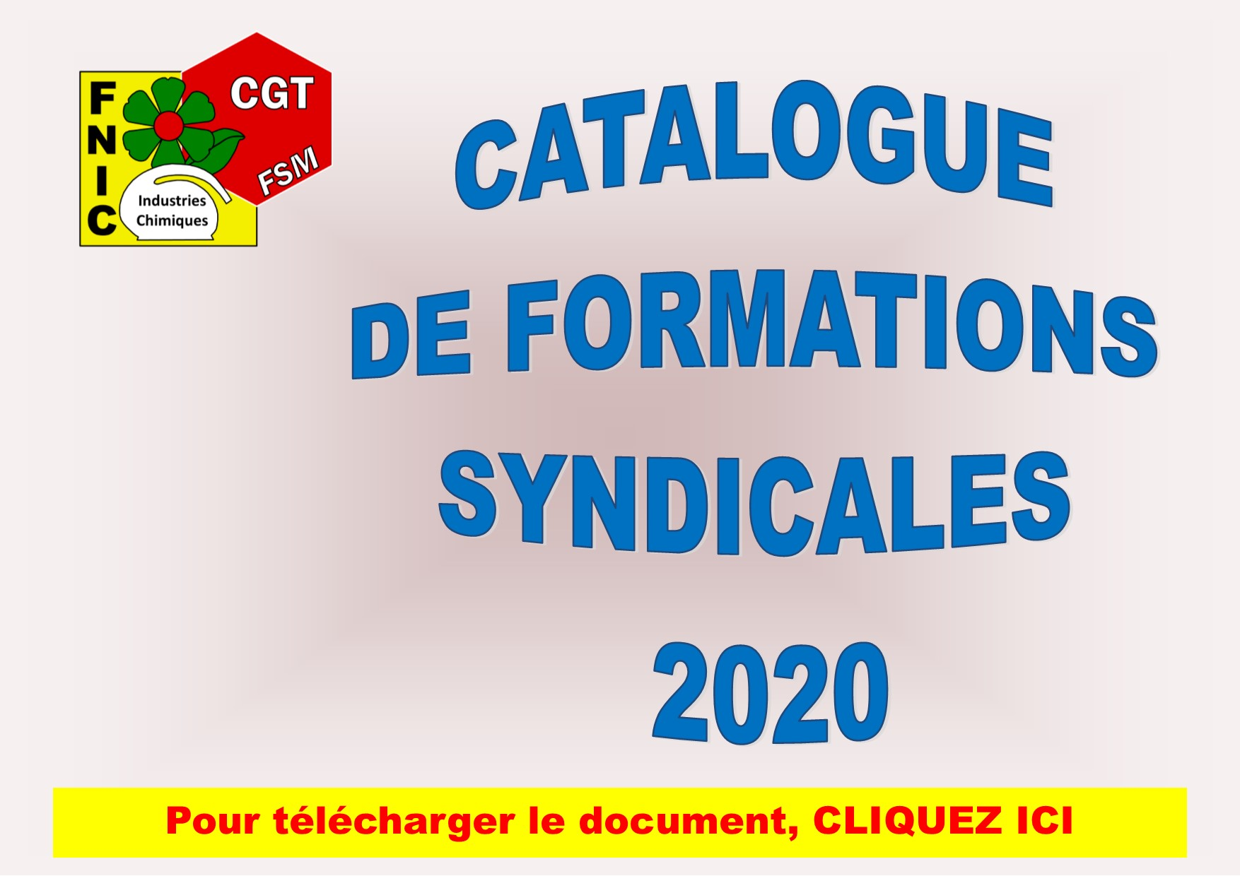 CATALOGUE DE FORMATION SYNDICALE 2020