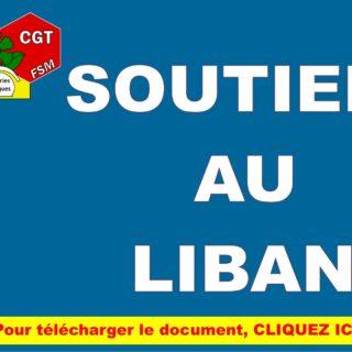 SOUTIEN AU LIBAN