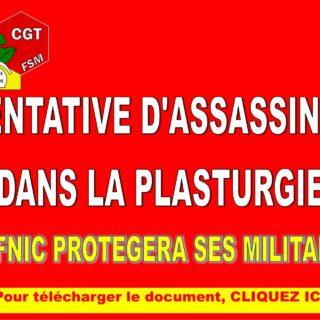 COMMUNIQUE DE PRESSE – TENTATIVE D'ASSASSINAT DANS LA PLASTURGIE