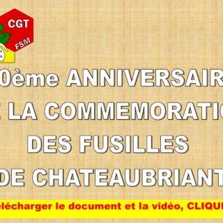 COMMÉMORATION 80ème ANNIVERSAIRE DES FUSILLÉS DE CHÂTEAUBRIANT