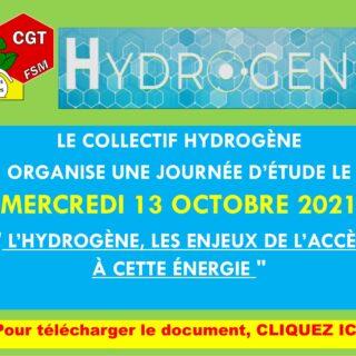 COLLECTIF HYDROGÈNE JOURNÉE ÉTUDE 13 OCTOBRE 2021